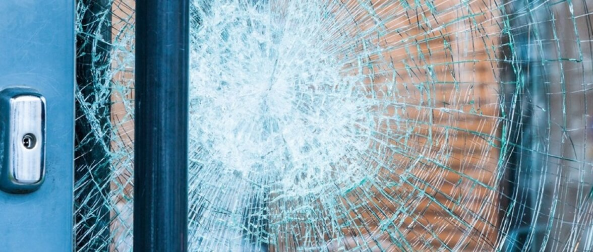 Unbreakable Glass Home Slider Smashed Glass Door with Sidelights