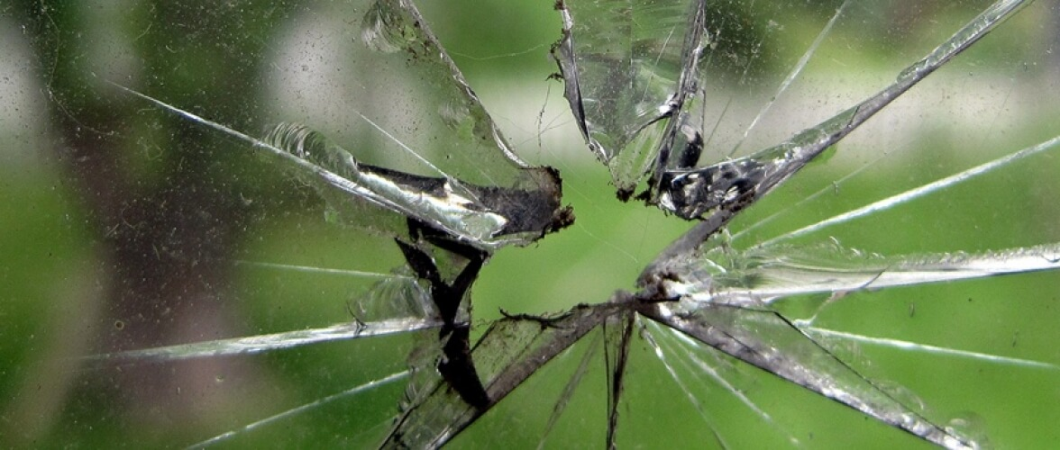 Unbreakable Glass Home Slider Smashed Glass