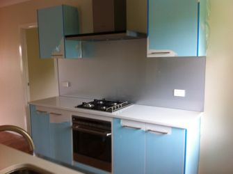 Painted Glass Splashback